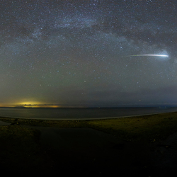 Fireball trough the Milkyway