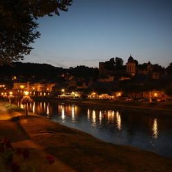 De avond is gevallen in Montignac