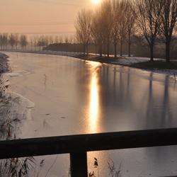 ondergaande winterzon
