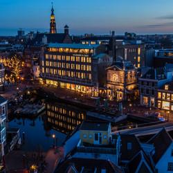 Leiden centrum in de avond