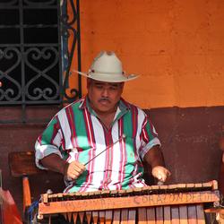 Straatmuzikant Ataco (El Salvador)