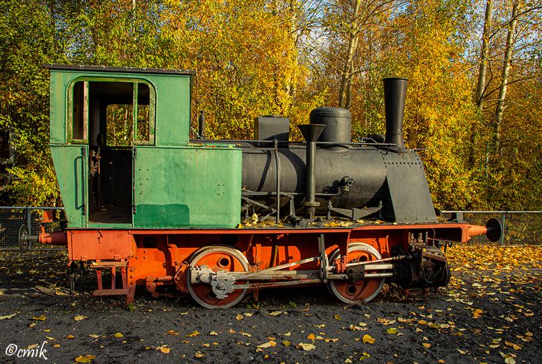 Dortmund: Industriedenkmal Kokerei Hansa (Duitsland) - Één van de 2 locomotieven.<br /> De centrale cokesfabriek Hansa is de laatste van 17 cokesfabr