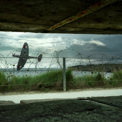 Spitfire vanuit bunker