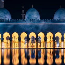 Grand Mosque Abu Dhabi at night