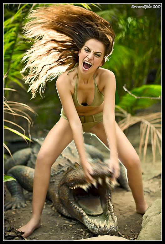 Bibi &amp; De Krokodil - De foto was meer een spontane ingeving dan een vooropgezet plan en met licht heb ik wat accentjes gelegd.<br /> Een 580EXII