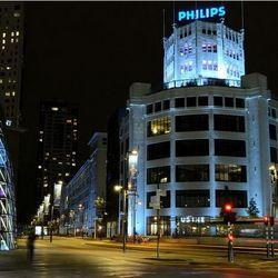 Eindhoven Emmasingel bij nacht