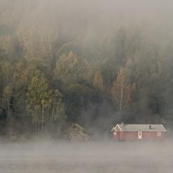Mist rond de hut..