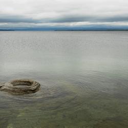krater in het meer.