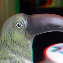 Vogel etalage DIRKX Rotterdam 3D