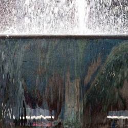 spiegeling in de fontein