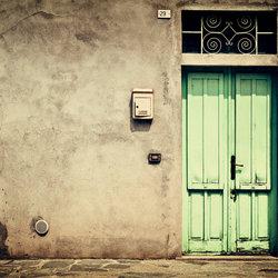 Ghost town sparkling door