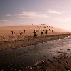 Sunset dune at Jericoacoara, Brasil