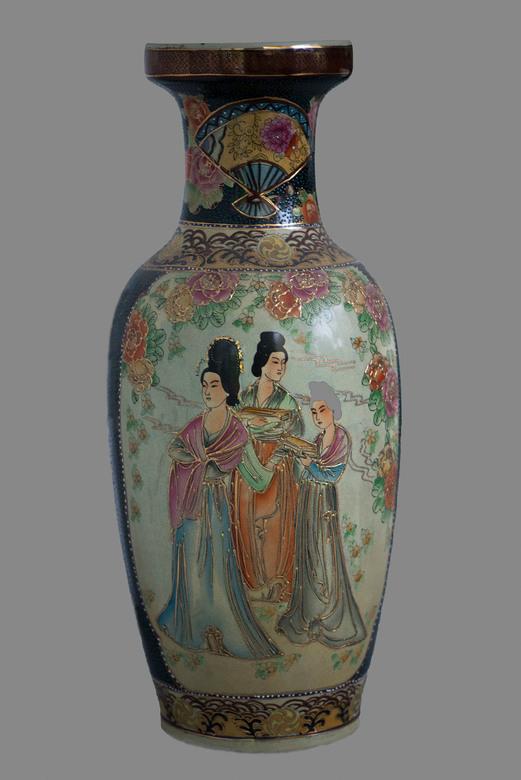 Chinese vaas2 - Wat knap om dit zo te beschilderen.
