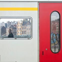 """Een """"Mondriaan"""" van een treinstel"""