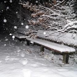 winter in de avond