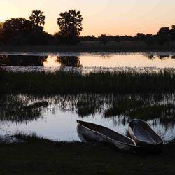 Botswana, Sunset over the Okavango Delta