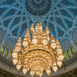 Kroonluchter in moskee