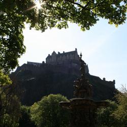 Edinburgh Castle+fontein