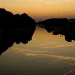 Sunset in Geel