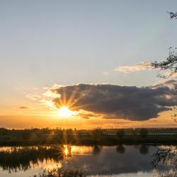 Zonsondergang in Wervershoof