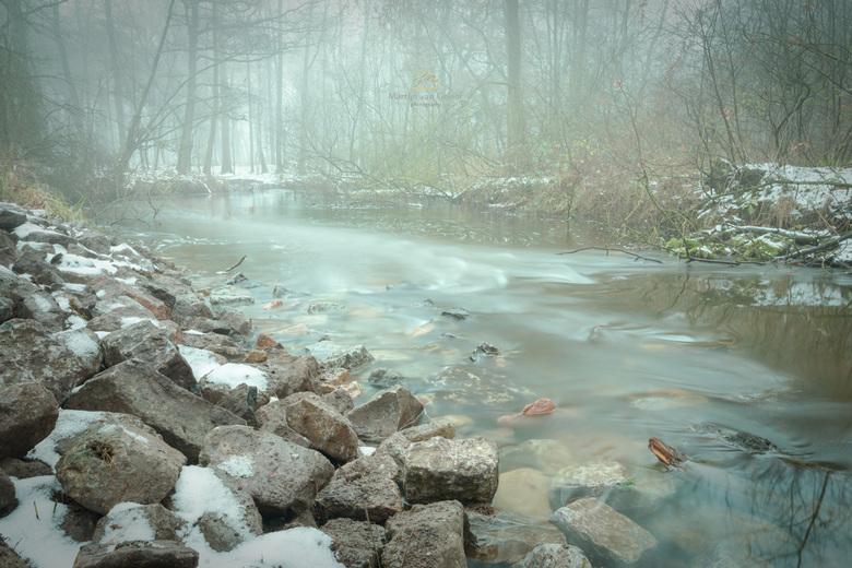 Foggy Stream - Een stromend beekje in natuurgebied de Kampina