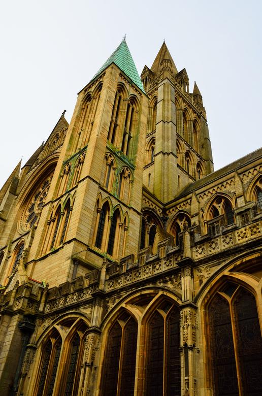 Cathedral Truro in Cornwall. - Foto genomen in Truro in Cornwall(UK)<br /> De hoogste Cathedral in de UK(250 feet)is 76,2 meter.Moeilijk te fotografe