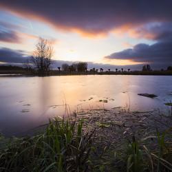 Stormige zonsondergang