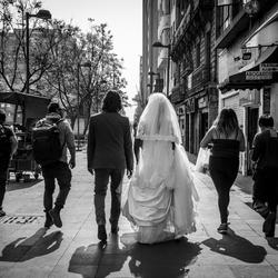 Foto's voor het verse bruidspaar