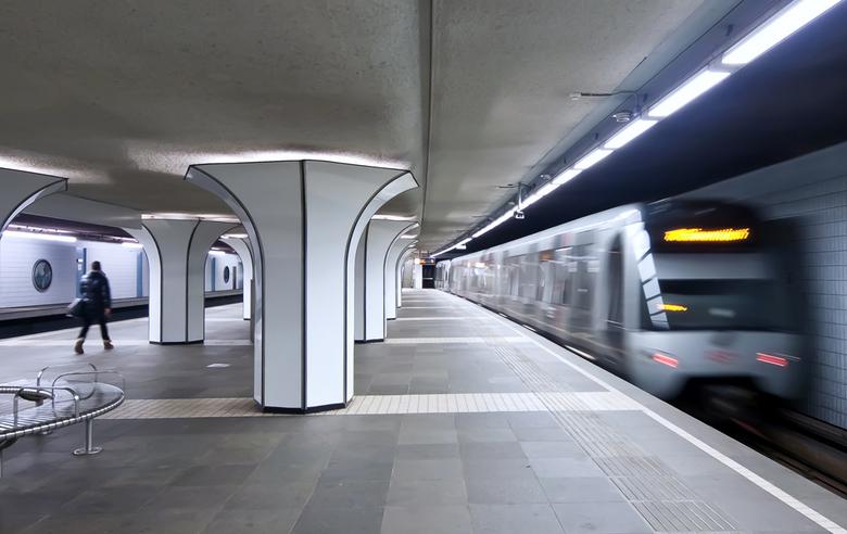 Marconiplein - Metrostation Marconiplein in Rotterdam.<br /> Bedankt voor de reactie op mijn vorige foto.<br /> Gr. Adri.