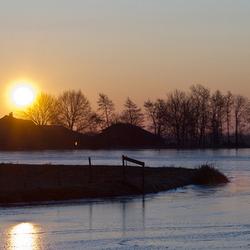 Winterse zonopkomst