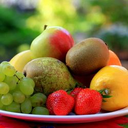 Gekleurd fruit