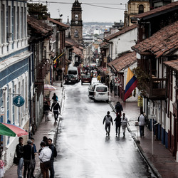 a rainy day in Bogota
