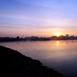 Zonsopgang bij de IJssel