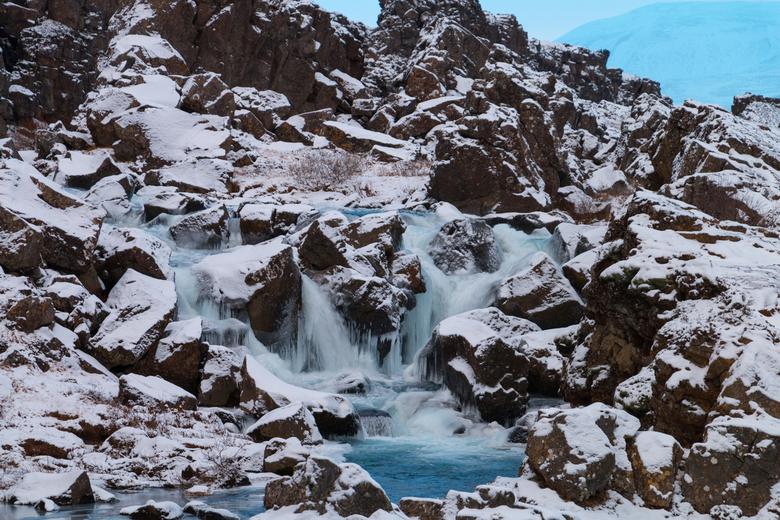 Watervalletje bij Lögberg, IJsland