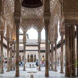Granada Alhambra Patio de los Leones