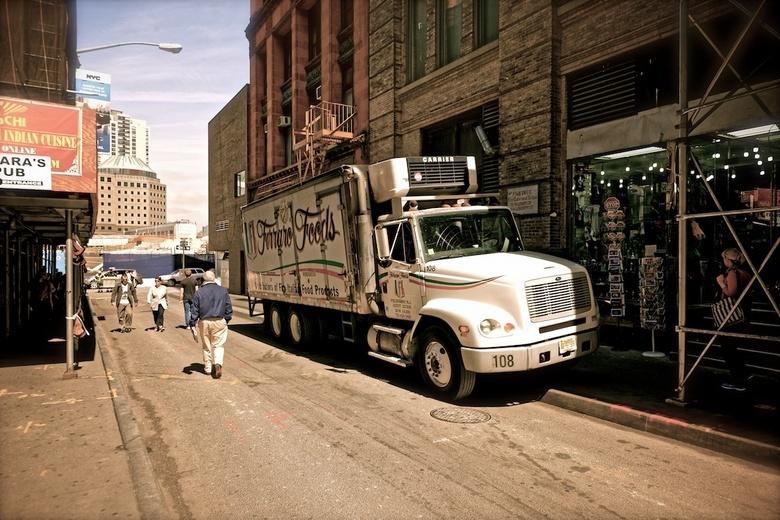 New York Street 7 - New York City, Vrachtwagen<br /> <br /> Gefiltert met DXO Filmpack