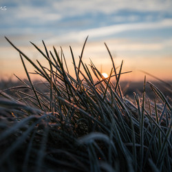Sunrise on a cold morning