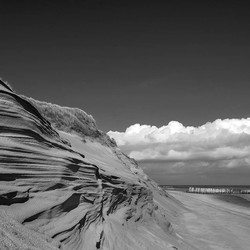 Strand in zwart/wit