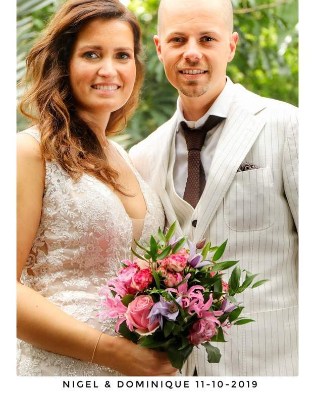 bruidspaar Nigel en Dominique - bruidspaar Nigel en Dominique