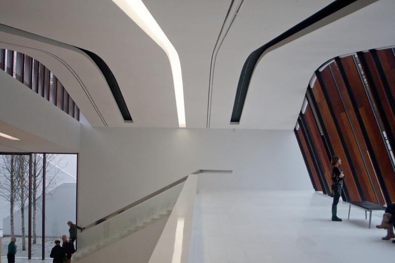 Balkon Drents Museum - Het balkon van het Drents Museum in Assen, architectonisch hoogstandje!