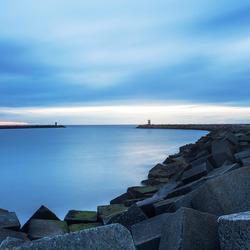 Blue hour at Scheveningen Harbor