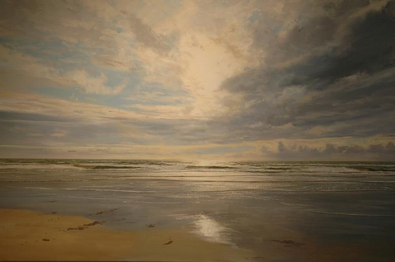 zeegezicht -2- - nog een  zeegezicht.....zag dit olieverf schilderij in Galerie de Zeehaas in Egmond aan Zee en geschilderd door<br /> Jan Schelhaas<