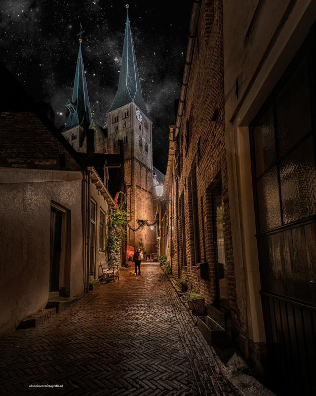 Deventer kerk avond - Deventer kerk avond