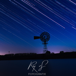 Stars and an old iron mill