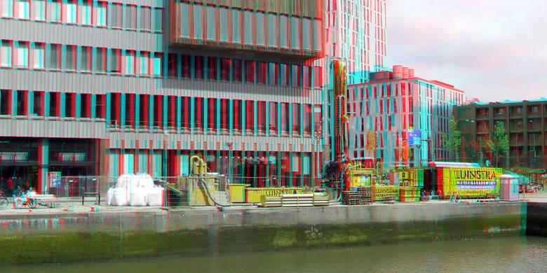 Aardwarmtewinning Luinstra Wijnhaven Rotterdam 3D  - Aardwarmtewinning Luinstra Wijnhaven Rotterdam 3D hyper-anaglyph