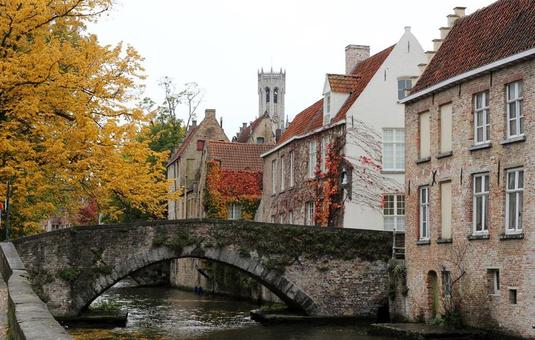 Brugge tijdens de Herfst -