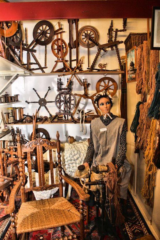 Spinnewielen - Nog een foto uit de oude doos.<br /> Deze is uit een museum in Ter Schuur