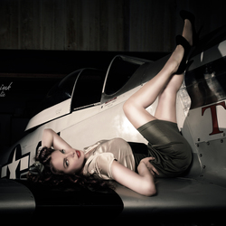 pin up on a plane