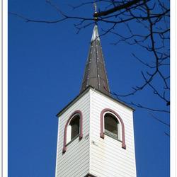 Dakruiter op de kerk in Lettelbert (Gr.)