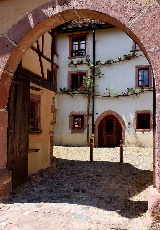 Elzas Frankrijk. - Riquewihr is een prachtig wijndorp een van de mooiste van de Elzas. Het dorp ligt fantastisch tussen de wijngaarden en heeft pracht